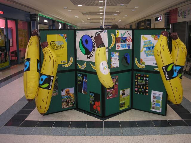 Our display, prominently featuring bananas.