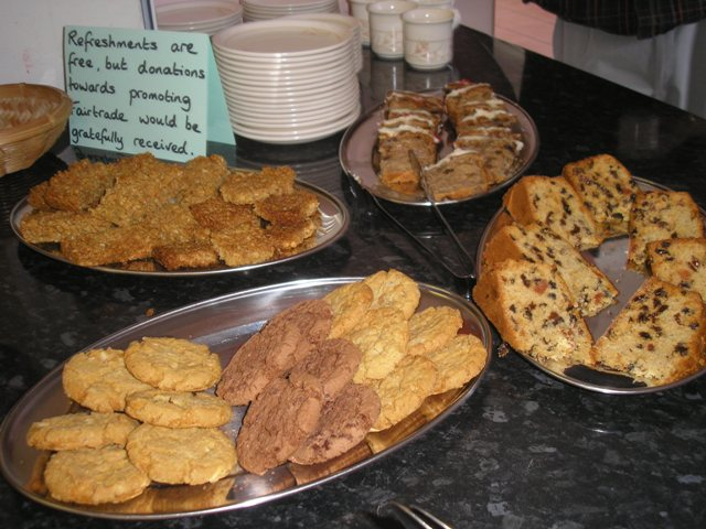 Fairtrade cakes and biscuits are always popular!